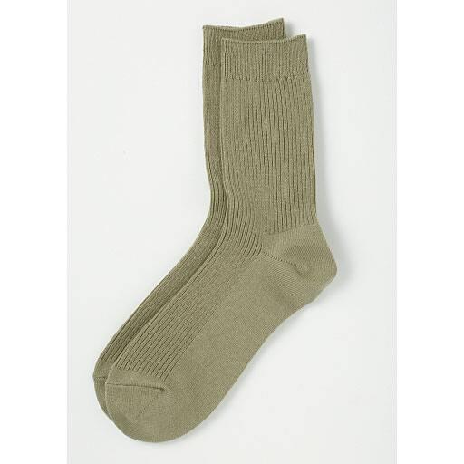 【レディース】 ファミリーソックス・3足組(家族ではける定番靴下 21cm-27cm)(クルー丈)の通販