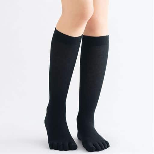 【レディース】 綿混着圧5本指ハイソックス(アシスキット)の通販