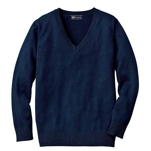 【ティーンズ】 吸汗・速乾加工付き さらっとVネックニットセーター(スクール・制服)の通販