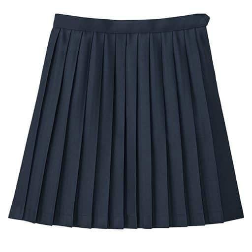 【レディース】 裏地・アジャスター付き 単色プリーツスカート(スクール・制服)の通販