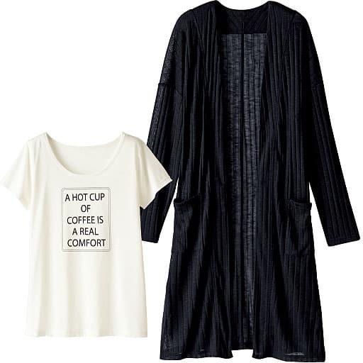 25%OFF【ティーンズ】 ロングカーディガン&半そでTシャツ