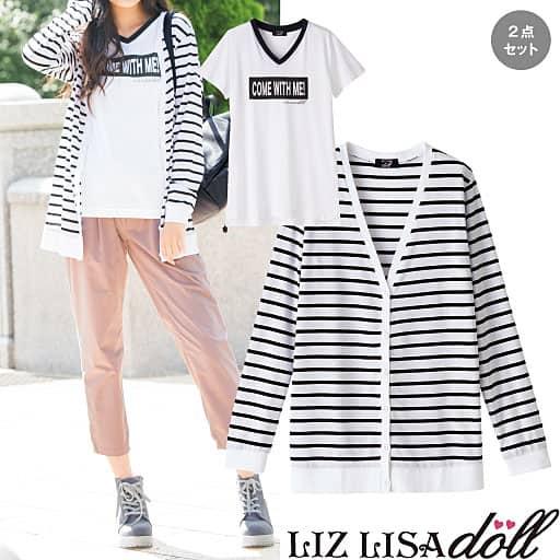 【SALE】 【ティーンズ】 カーディガン&半そでTシャツ(LIZ LISA doll) - セシール