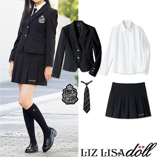 【SALE】 【ティーンズ】 LIZ LISA doll 卒業式・入学式に!スーツ5点セット(スクール・制服)