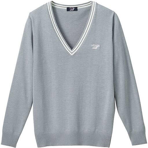 【ティーンズ】 LIZ LISA doll ライン入りVネックニットセーター(スクール・制服) – セシール