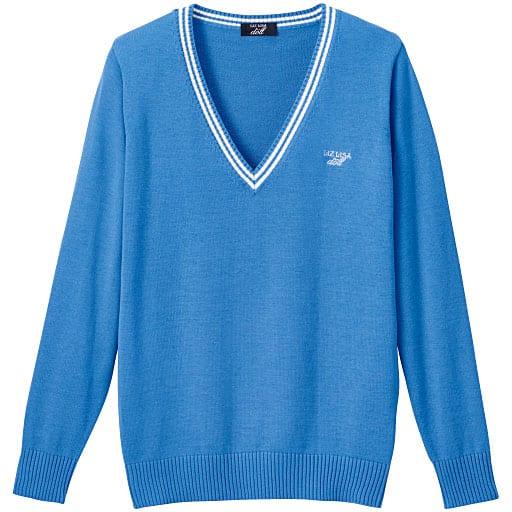 【ティーンズ】 LIZ LISA doll ライン入りVネックニットセーター(スクール・制服)