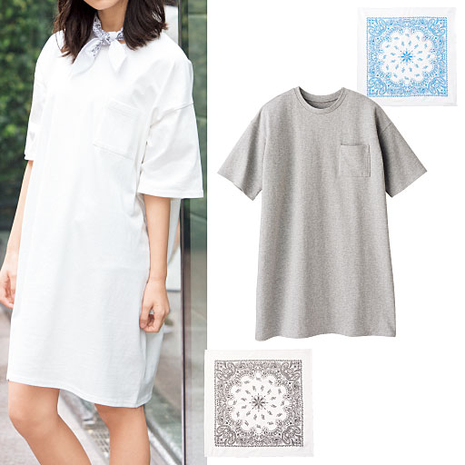 【ティーンズ】 ビッグシルエットTシャツ(バンダナ付き)の通販