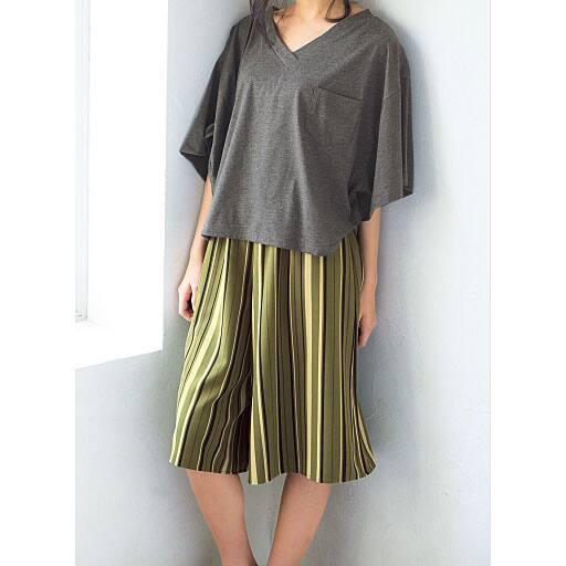 【ティーンズ】 ポンチョ風VネックTシャツの通販