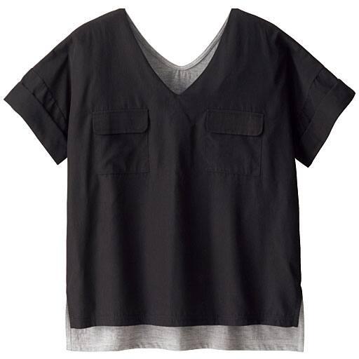 【SALE】 【ティーンズ】 異素材使いダブルポケットTシャツの通販