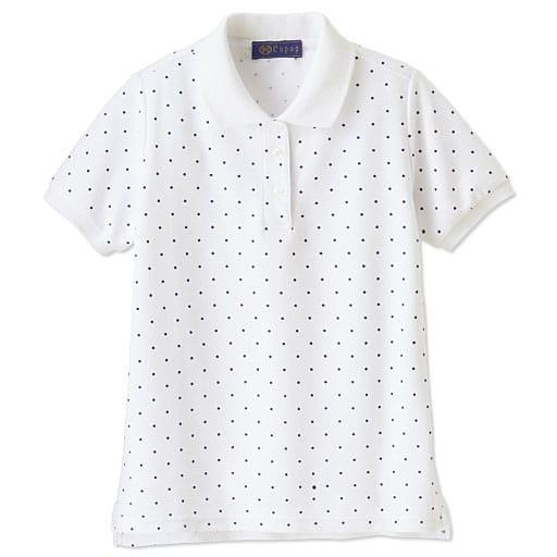 【SALE】 【ティーンズ】 ドット柄 半袖ポロシャツ(スクール・制服)