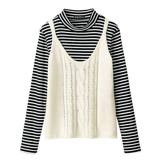 【SALE】 【ティーンズ】 ニットキャミソール&長袖リブTシャツの通販