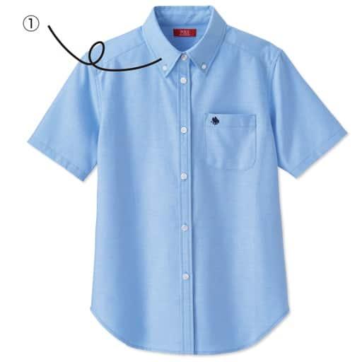 【ティーンズ】 POLO BCS オックスフォード半袖シャツ・ブラウス(スクール・制服)の通販