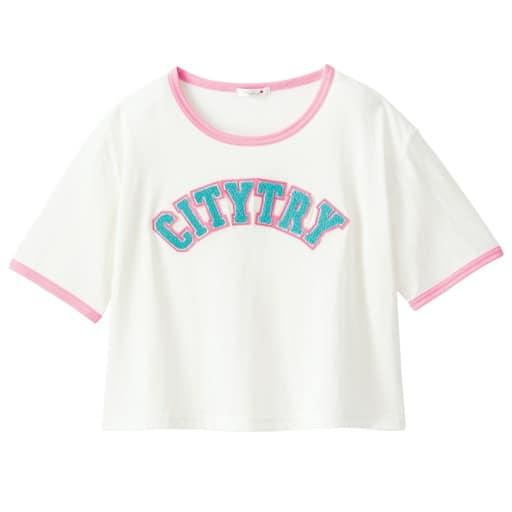 【ティーンズ】 サガラ刺しゅうリンガーTシャツの通販