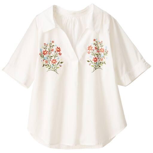 【ティーンズ】 刺しゅうスキッパーシャツの通販