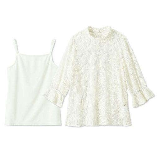 【ティーンズ】 レースプルオーバー&キャミソール - セシール