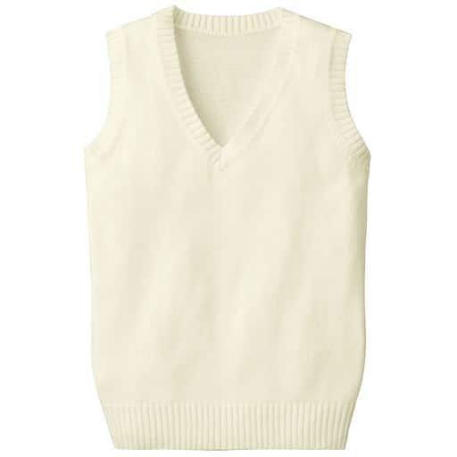 【ティーンズ】 年間使いやすい綿100% Vネックニットベスト(スクール・制服)の通販