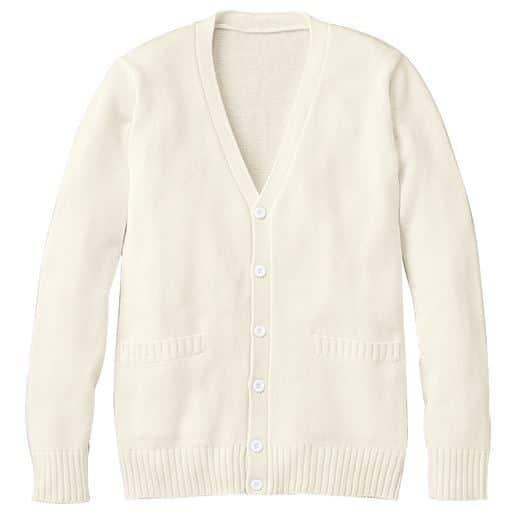 【ティーンズ】 年間使いやすい綿100% Vネックニットカーディガン(スクール・制服)の通販