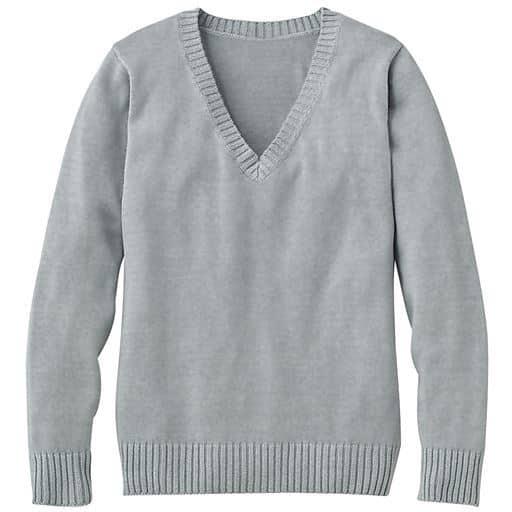 【ティーンズ】 年間使いやすい綿100% Vネックニットセーター(スクール・制服)の通販