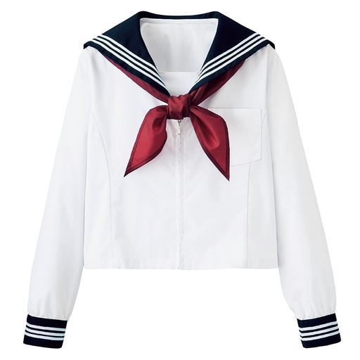 【ティーンズ】 スカーフ付 半袖・長袖セーラー服(スクール・制服)