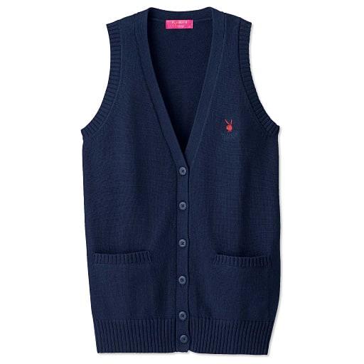 【SALE】 【ティーンズ】 PLAYBOY Bunny 綿100%Vネックニットベスト(スクール・制服)の通販