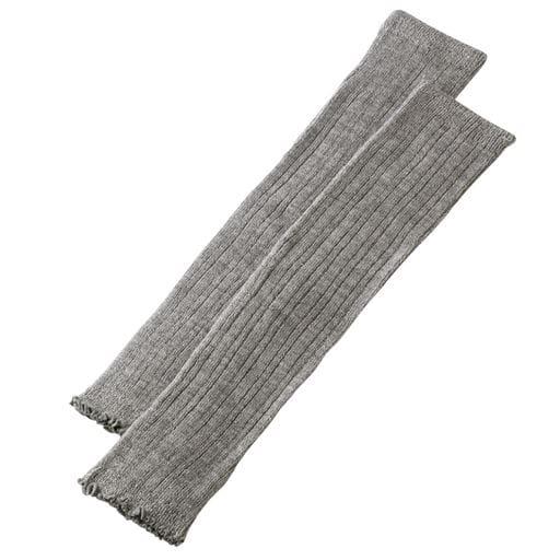 【レディース】 吸湿発熱繊維のびのびレッグウォーマー(2枚1組)