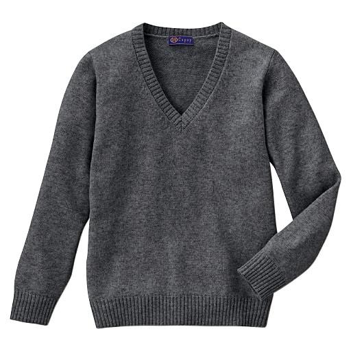 【ティーンズ】 あったか毛80% Vネックニットセーター(スクール・制服)の通販