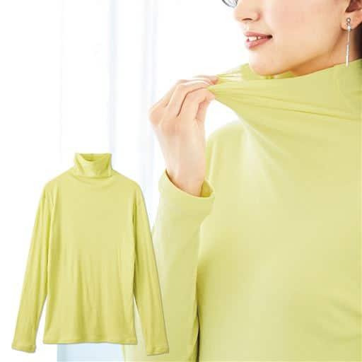 【SALE】 【レディース】 タートルネック10分袖(綿100% シフォン調素材の贅沢カットソー)の通販