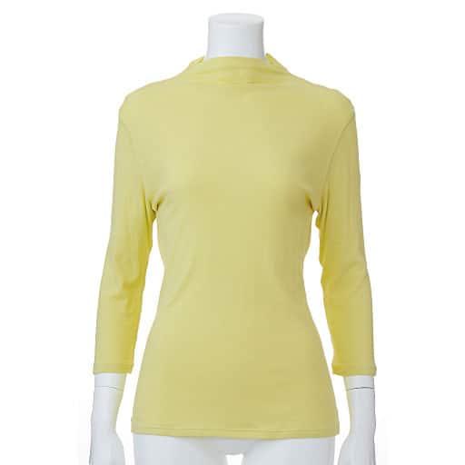 【SALE】 【レディース】 ボトルネック7分袖(綿100% シフォン調素材の贅沢カットソー)の通販