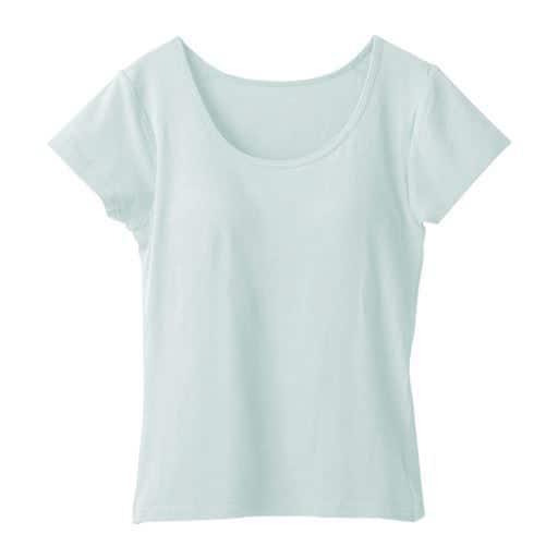 【レディース】 カップ付きフレンチ袖(立体カップで胸すっきり綺麗)