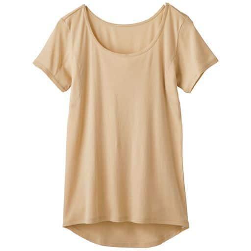 【レディース】 スマートドライ 汗取りパッド付き3分袖(綿100% 爆汗さん®用)