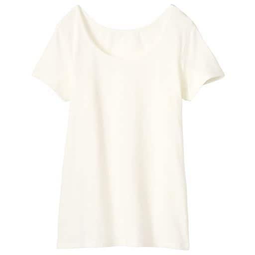 【レディース】 スマートヒート 汗取り付きフレンチ袖インナー(発熱するコットン ぬく綿)