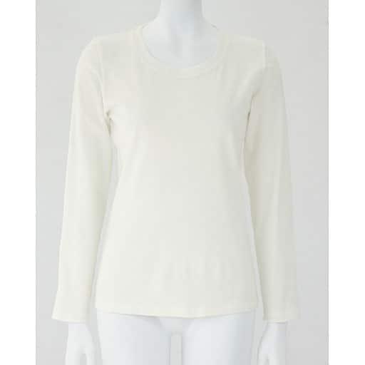 【レディース】 クルーネック長袖Tシャツ(ボーダー&無地 肌触りやわらかいカラバリ豊富なデイリーTシャツ)の通販