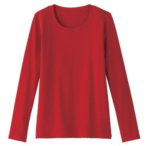 【SALE】 【レディース】 クルーネック長袖Tシャツ(ボーダー&無地 肌触りやわらかいカラバリ豊富なデイリーTシャツ)の通販