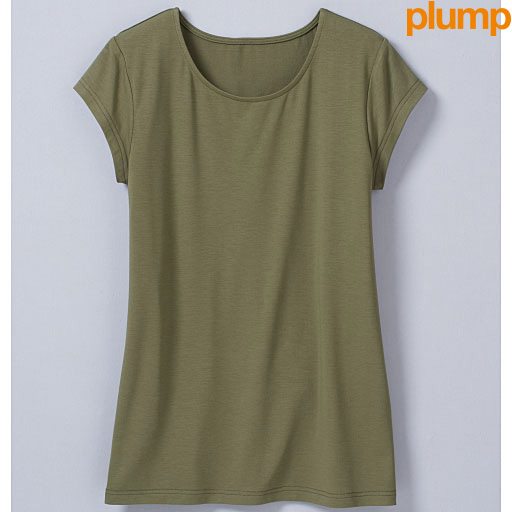 【SALE】 【レディース大きいサイズ】 ひんやりを感じるフレンチ袖Tシャツの通販