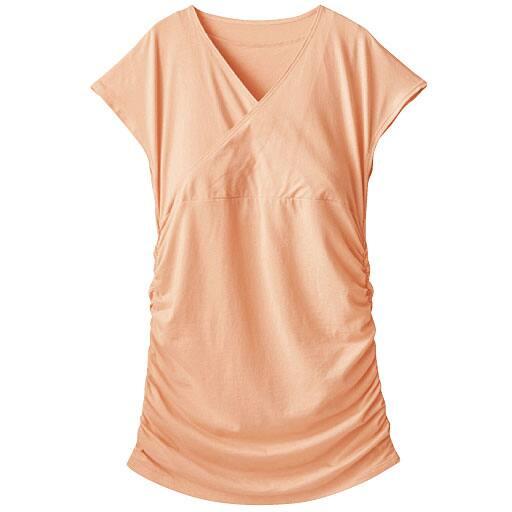 【SALE】 【レディース】 カシュクール風パッド付きフレンチ袖(1枚で着れる大人のデイリーートップス) – セシール
