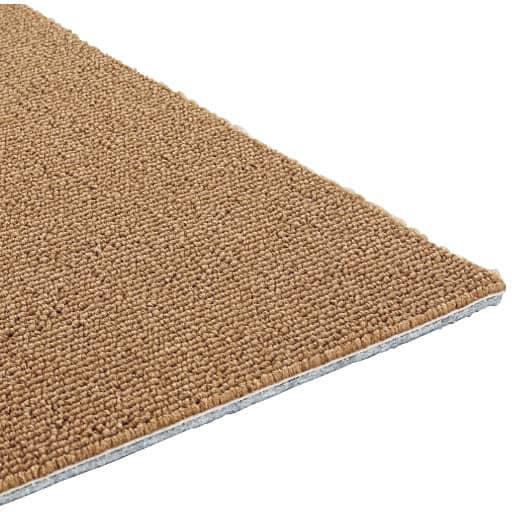 <セシール> 防炎・遮音・撥水タイルカーペット(同色10枚組) <サイズ>F <カラー>ブラウン