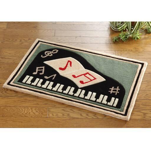 玄関マット ピアノの写真