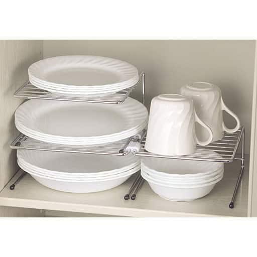 だんだん割り 食器収納ラック(9個組)の商品画像