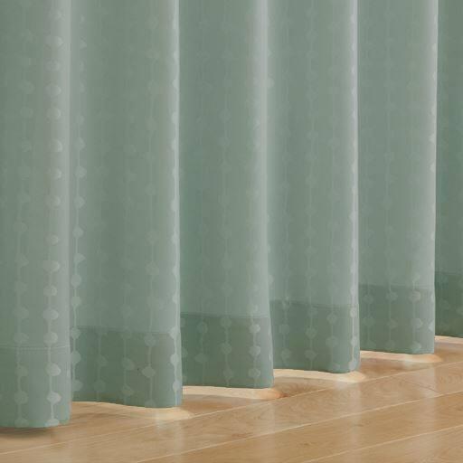 〔形状記憶付き〕ストライプ柄ジャカード織カーテンの商品画像
