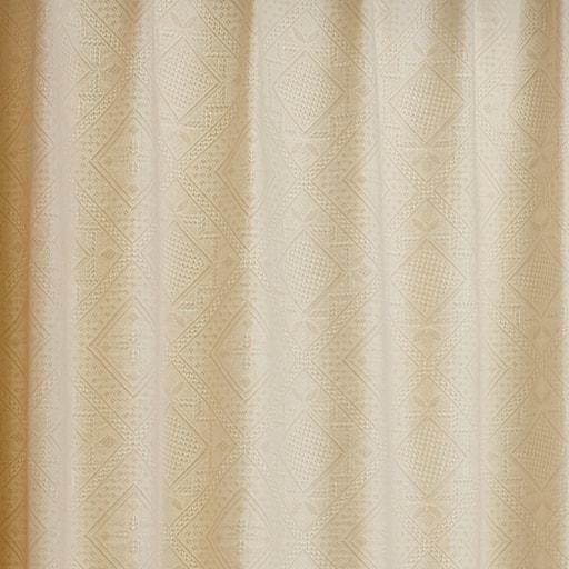 〔形状記憶付き〕立体感のあるジャカード織りナチュラルカーテン – セシール