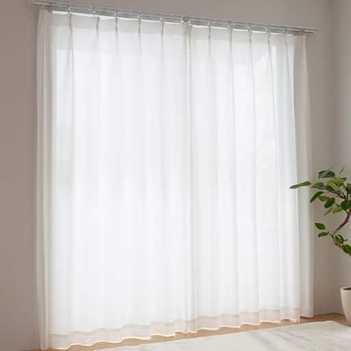 <セシール> PM2.5対応遮熱UVカットミラーレースカーテン <サイズ>幅100x丈188(2枚組)、幅200x丈148(1枚物)、幅200x丈193(1枚物)、幅200x丈223(1枚物)、幅20 <カラー>ホワイト