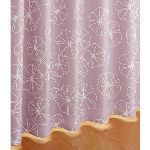 遮熱・1級遮光裏地付き北欧柄プリントカーテン - セシール