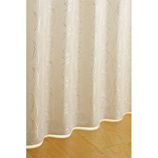 モダンサークル柄遮光ジャカード織りカーテンの商品画像