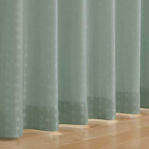 〔遮熱1級遮光裏〕ストライプ柄ジャカード織カーテンの商品画像