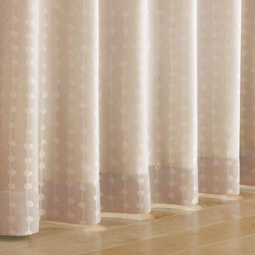 〔遮熱1級遮光裏〕ストライプ柄ジャカード織カーテン – セシール