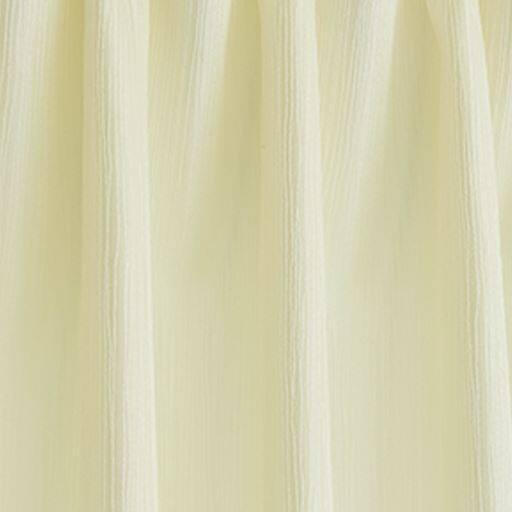 〔形状記憶付き〕ドレープたっぷり2倍ヒダジャカード織りカーテン(波ストライプ)の商品画像