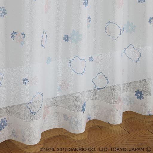 UVカットミラーレースカーテン(ハローキティ)の商品画像