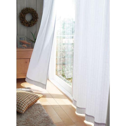 レースカーテン(プライバシー保護に優れた遮熱・UVプロテクトカットタイプ) - セシール
