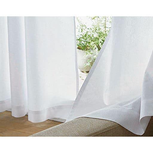 紫外線94%カットする遮熱ミラーレースカーテンの商品画像