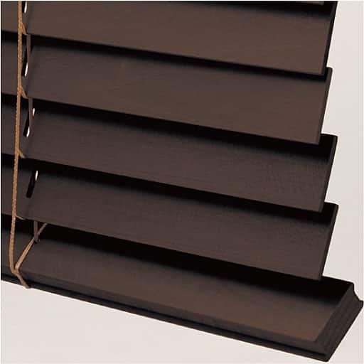 羽根幅が広い木製ブラインド(バランス付き) 幅59x丈109(1本)、幅164x丈91(1本)、幅159x丈121(1本)、幅159x丈109(1本)、幅159x丈91(1 ブラウン