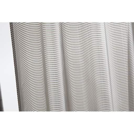 防炎付き光沢感のあるモダンデザインレースカーテンの写真